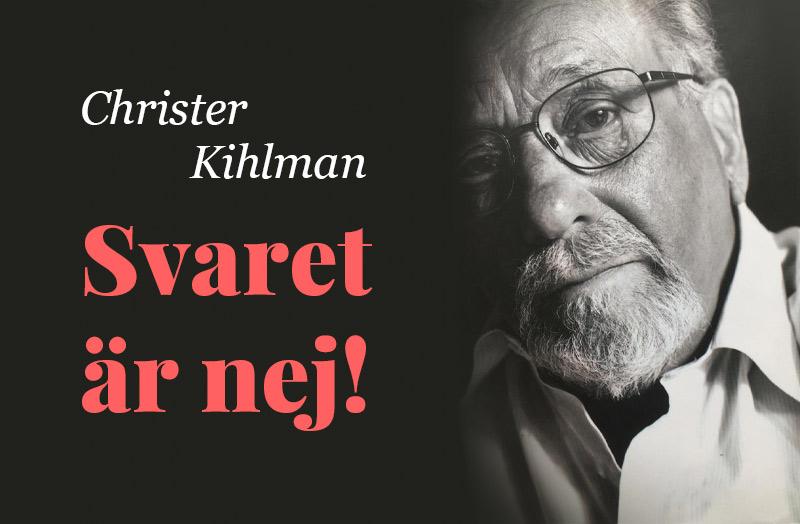 Klockriketeaterns hörspel: Svaret är Nej! av Christer Kihlman